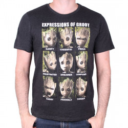 GROOT EXPRESSIONS T-SHIRT EXTRA LARGE SIZE GUARDIANS OF THE GALAXY