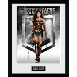 WONDER WOMAN JUSTICE LEAGUE DC COMICS COLLECTOR FRAME 45 X 34 CM