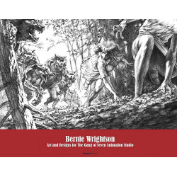 BERNIE WRIGHTSON ART AND DESIGNS FOR GANG OF SEVEN ANIMATIONS HC