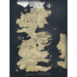 WESTEROS MAP GAME OF THRONES 40X50 CANVAS PRINT