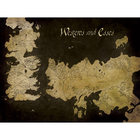 WESTEROS AND ESSOS MAP GAME OF THRONES 40X50 CANVAS PRINT
