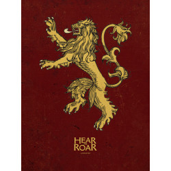 LANNISTER GAME OF THRONES 40X50 CANVAS PRINT