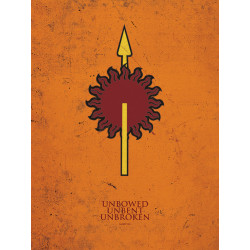 MARTELL GAME OF THRONES 40X50 CANVAS PRINT