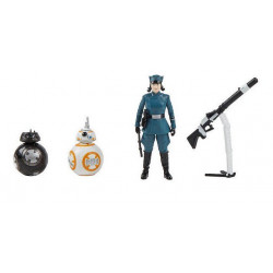 ROSE FIRST ORDER DISGUISE BB8 AND BB9 STAR WARS FORCE LINK ACTION FIGURE 3 PACK