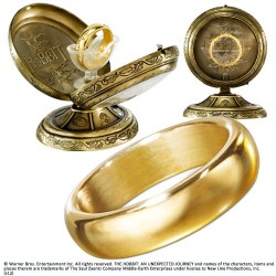 THE HOBBIT ONE RING AND DISPLAY REPLICA