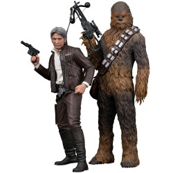 HAN SOLO AND CHEWBACCA STAR WARS THE FORCE AWAKENS ARTFX TWO PACK FIGURE