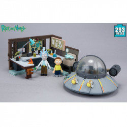SPACESHIP AND GARAGE RICK AND MORTY CONSTRUCTION SET