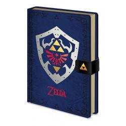HYLIAN SHIELD THE LEGEND OF ZELDA PREMIUM A5 NOTEBOOKS