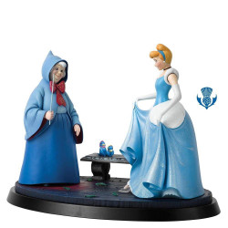 CINDERELLA AND FAIRY GODMOTHER DISNEY A MOMENT IN TIME STATUE
