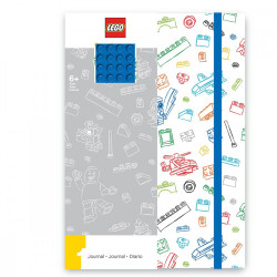 LEGO WHITE WITH BLUE BRICK NOTEBOOK
