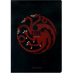 GAME OF THRONES CARNET MAISON TARGARYEN