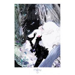 AFFICHE MILKY PAR LILIDOLL - TIRAGE EXCLUSIF ALBUM COMICS