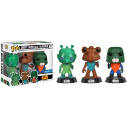 GREEDO HAMMERHEAD AND WALRUS MAN STAR WARS POP! 3 PACK VINYL BOBBLE FIGURE