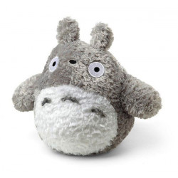 PELUCHE TOTORO FLUFFY GRIS CLAIR - S - 14 CM