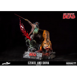 EZEKIEL AND SHIVA THE WALKING DEAD LIMITED EDITION RESIN STATUE