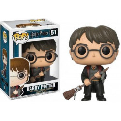 HARRY POTTER WITH FIREBOLT AND FEATHER HARRY POTTER POP! VINYL FIGURE