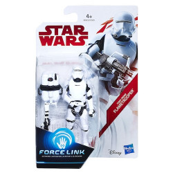 FIRST ORDER FLAMETROOPER STAR WARS EPISODE VIII FORCE LINK ACTION FIGURE