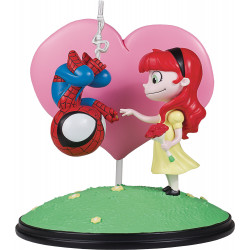 SPIDER-MAN AND MARY JANE ANIMATED STYLE MARVEL COMICS STATUE