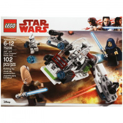 JEDI AND CLONE TROOPERS BATTLE PACK STAR WARS LEGO BOX 75206