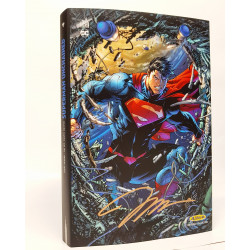 SUPERMAN UNCHAINED PACK RECUEIL + JAQUETTE EXCLUSIVE EDITION LIMITEE DEDICACEE PAR JIM LEE