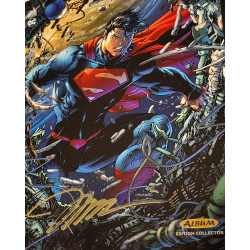 SUPERMAN UNCHAINED JAQUETTE EXCLUSIVE EDITION LIMITEE DEDICACEE PAR JIM LEE