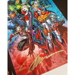 SUICIDE SQUAD REBIRTH T1 JAQUETTE EXCLUSIVE EDITION LIMITEE DEDICACEE PAR JIM LEE