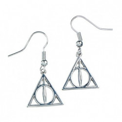 DEATHLY HALLOWS HARRY POTTER SILVER PLATED EARRINGS
