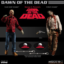 Dawn Of The Dead one:12 Flyboy & Plaid Shirt Zombie action figure 2 pack 17 cm