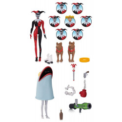 HARLEY QUINN EXPRESSIONS PACK BATMAN THE ANIMATED SERIES DC COMICS ACTION FIGURE