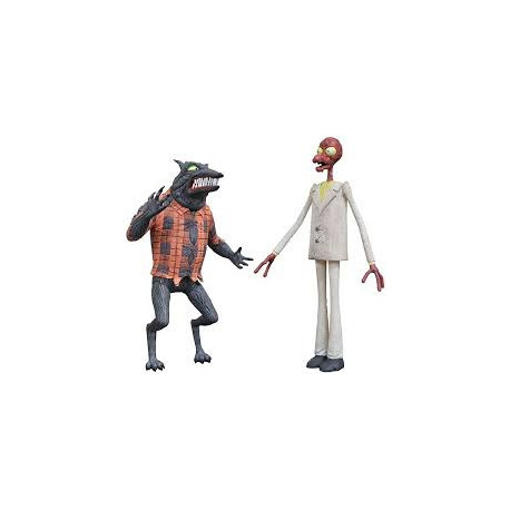 WOLFMAN & MELTING MAN DIAMOND SELECT NIGHTMARE BEFORE CHRISTMAS ACTION FIGURE