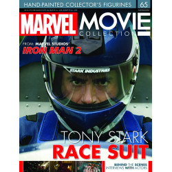 TONY STARK RACE SUIT MARVEL MOVIE COLLECTION RESINE FIGURE NUMERO 65