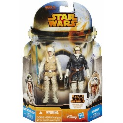 STAR WARS MISSION SERIES WAVE 2 - LUKE SKYWALKER AND HAN SOLO HOTH OUTFIT - 2 PACK ACTION FIGURES