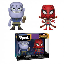 THANOS AND IRON SPIDER AVENGERS INFINITY WAR MARVEL VYNL 2 PACK FIGURE