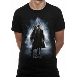 FANTASTIC BEASTS CRIMES OF GRINDELWALD MOVIE POSTER T-SHIRT LARGE SIZE