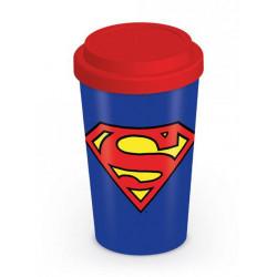 SUPERMAN LOGO DC COMICS TRAVEL MUG