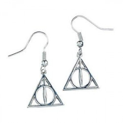 DEATHLY HALLOWS HARRY POTTER SILVER EARRINGS