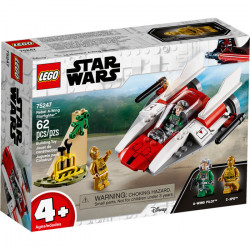 REBEL A-WING STARFIGHTER STAR WARS LEGO BOX 75247