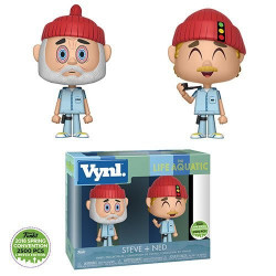 STEVE AND NED THE LIFE AQUATIC VYNL 2 PACK FIGURE