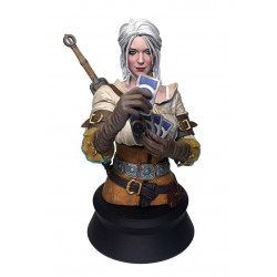 CIRI PLAYING GWENT THE WITCHER WILD HUNT RESIN BUST