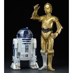 STAR WARS - C3PO & R2D2 - 2PACK VINYL ART FX STATUES