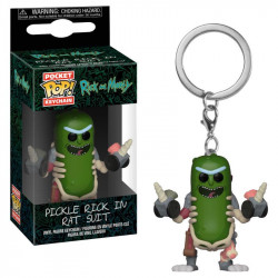 PICKLE RICK IN RAT SUIT RICK AND MORTY POCKET POP! KEYCHAIN