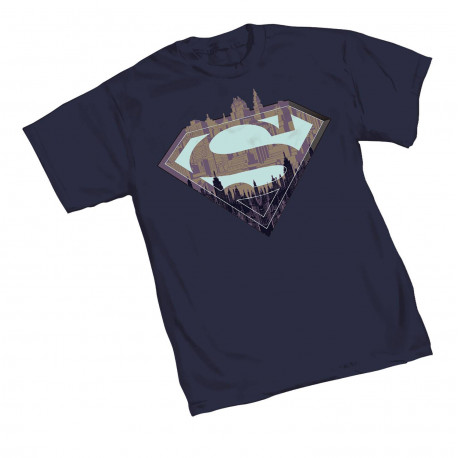 SUPERMAN CITY SYMBOL T-SHIRT LARGE SIZE