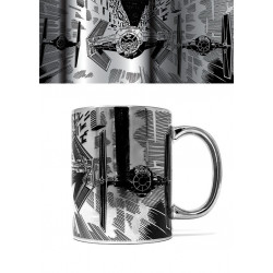 TIE ATTACK CHROME STAR WARS BOXED MUG