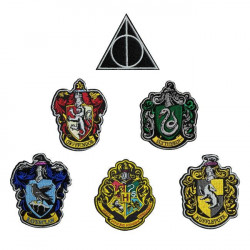 HARRY POTTER DELUXE 6 IRON-ON PATCHES