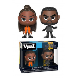 SHURI AND T'CHALLA BLACK PANTHER MARVEL VYNL 2 PACK FIGURE