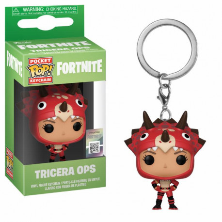 TRICERA OPS FORTNITE POCKET POP! GAMES VYNIL KEYCHAIN