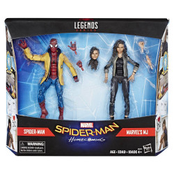 SPIDER-MAN AND MJ SPIDER-MAN HOMECOMING MARVEL LEGENDS TWO PACK ACTION FIGURE