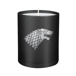 STARK GAME OF THRONES GLASS CANDLE
