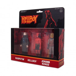 HELLBOY RASPUTIN AND JOHANN KRAUS REACTION 3 PACK ACTION FIGURE
