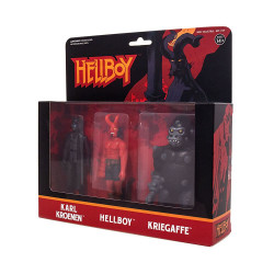 HELLBOY KARL KROENEN AND KRIEGAFFE REACTION 3 PACK ACTION FIGURE